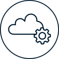 Icon – Cloud Entwicklung